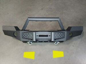 2007 2018 Jeep Wrangler Jk Full Width Modular Bumper With Paintable Inserts