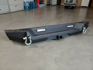 2007 2018 Jeep Wrangler Jk Steel Rear Bumper High Clearance With Lights