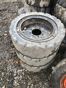 12 16 5 Skid Steer Solid Tires With Rims