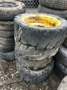 Skid Steer 12 16 5 Solid Tires With Rims