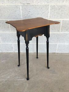 River Bend Ltd Tiger Maple Diminutive Accent Table