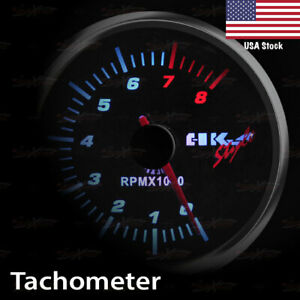 2 11 16 68mm Smoked Lens Gauge White Light Auto Performance Meter Tachometer