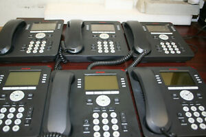Lot Of 6 Avaya 9608 Voip Black Business Telephone 700480585 9608d01a 1009