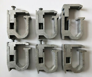 Six 6x Truck Cap Topper Shell Mounting Clamps Heavy Duty