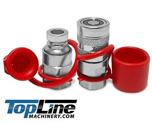 Tl43 1 4 Npt Thread 1 4 Body Flat Face Hydraulic Quick Connect Coupler Set