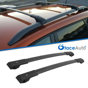 Cross Bar Luggage Baggage Roof Rack Rail Black Fit For Jeep Cherokee 2014 2020