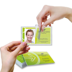 Trulam Self laminating Business Card Pouches 2 5 8 X 4 100 bx