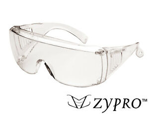Safety Goggles Over Glasses Lab Work Eyewear Wide Protective Clear Z87 Uv