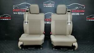 2006 Ford F150 Front Bucket Seat Set Manual Cloth Seat Tan Interior Trim Code Fw