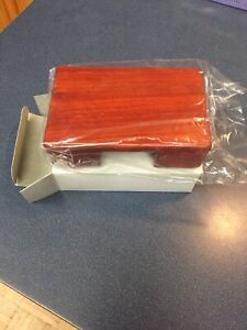 Business Card Case Wooden Box Cherry Finish Nos