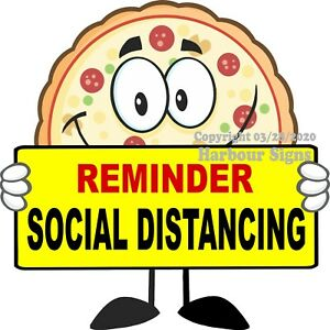Pizza Social Distance Decal choose Your Size Concession Food Truck Sticker