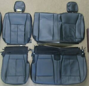 2015 2020 Original Ford F150 Take Off Rear Black Leather Seat Upholstery