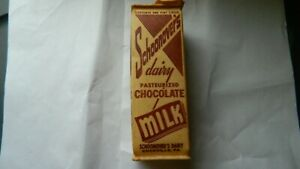SCHOONOVER'S DAIRY KNOXVILLE PA 1 PT CHOCOLATE MILK CONTAINER RARE FREE USA SHIP