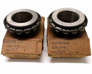 two Writing On Box Timken Tapered Roller Bearings 53178 Cone 52017 h No 7 17