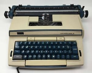 Montgomery Ward Electric Typewriter In case Scm 8217 Cartridge Mark Xi W6lc