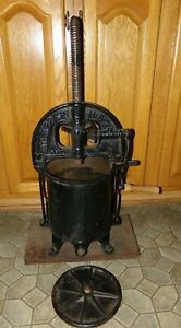 Antique Cast Iron Enterprise Sausage Stuffer Press Fruit Cider