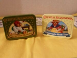 Celestial SEASONINGS Vintage  Tea Tins Set Of 2