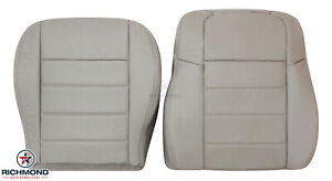 05 08 Dodge Magnum Se Rt Sxt Driver Side Complete Leather Seat Covers Light Gray
