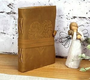 Leather Journal Handmade Writing Notebook 7x5 Blank Diary Leatherbound Journal