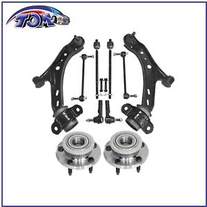 10pc Suspension Kit Wheel Hub Control Arm For Ford Mustang 2005 2006 2007 2009