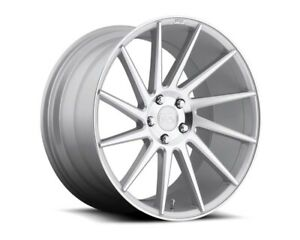 Niche Surge M112 Wheels Silver Machined 19x8 5 5x112 42mm Audi Mercedes Vw