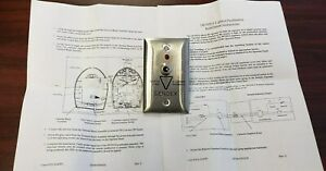 Gendex D0765ls Lighted Push Button And Plate For Expert Dc Dc765 And Gx 770