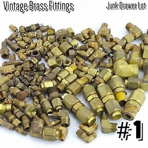 Bulk Brass Plumbing Parts Pneumatic Fittings Compression Couplings Huge Lot 1