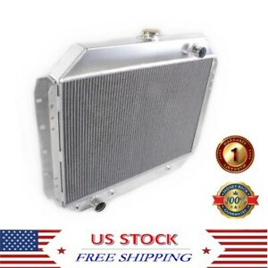 3 Row Aluminum Radiator Fit For Ford F100 F150 F250 F350 Bronco Truck 1966 1979