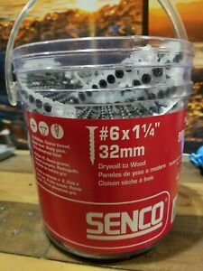 Senco 06a125p Duraspin Number 6 By 1 1 4 inch Drywall To Wood Collated Screw
