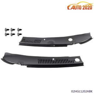 For Ford Mustang 99 04 New Windshield Wiper Cowl Vent Grille Panel Hood 2 Pcs