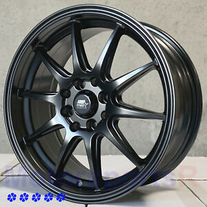 Mst Mt41 16 X7 38 Flat Black Wheels 4x100 Rims 89 93 01 Acura Integra Gsr Ls Rs