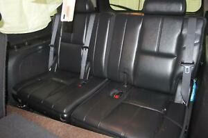 2008 Chevy Suburban 1500 Third 3rd Row Black Leather Bench Rear Seat Oem
