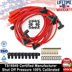 9x Hei Spark Plug Wires Set 90 To Straight For Chevy Sbc Bbc 350 383 400 454 V8