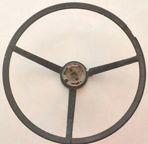 1963 1964 Ford Galaxie Steering Wheel 16 Ribbed Black Original Oem 500