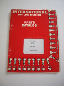 Ih International Hough 515 Front end Wheel Pay Loader Parts Catalog Manual List