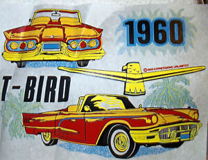 1960 Ford T bird Convertible Vintage 80 s T shirt Transfer