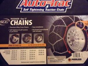 Snow Tire Chain Autotrac For Passenger Cars 0154510 By Peerless
