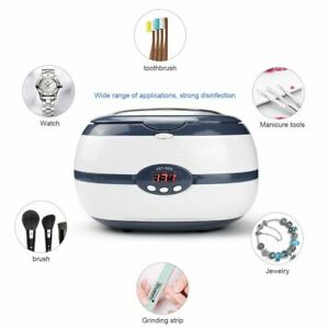 220v 600ml Ultrasonic Cleaner Bath Jewelry Parts Glasses Manicure Stones Cutters