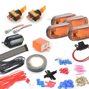 Universal Can Am Turn Signal Led Marker Light Kit With On Off One Toggle Switch