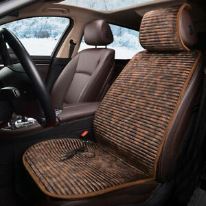 12v Heated Flannel Cushion Car Seat Cover Heating Heater Warmer Pad Winter