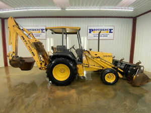 Ford 555d Loader Backhoe Orops 79hp Front Aux Hyd W 4 In 1 Bucket