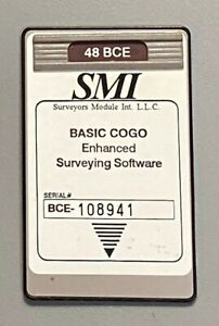 Smi Bce Surveying Card For Hp 48gx Calc