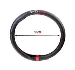 Trd Sports Steering Wheel Cover Carbon Fiber Decal 38cm Tundra Tacoma 4runner
