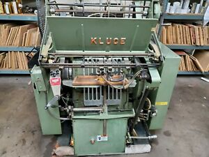Kluge Ehd Foil Stamper And Diecutter W Air Brake