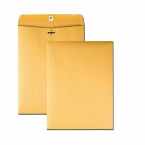 Brown Kraft Shipping Mailing Catalog Envelopes Seal Clasp 10x13 25pc