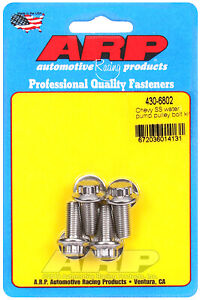 Arp 430 6802 Water Pump Pulley Bolts Stainless 12 point Universal 4 piece K