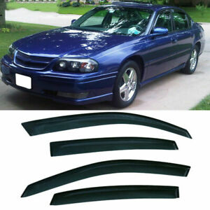 For Chevy Impala 2000 2005 Tinted Window Visors Wind Sun Rain Guards Deflector
