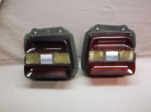 1969 Ford Fairlane Torino Gt Cobra Coupe Convertible Pair Taillights