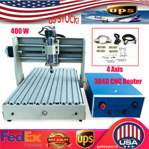 4 Axis 400w 3040 Cnc Router 3d Engraver Engraving Drilling Milling Machine Er11
