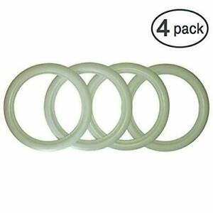 13 Inch Whitewall White Side Wall Topper Tire Trim Insert 4 Pcs Brand New